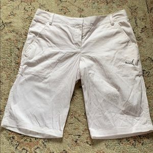 White Puma Golf Shorts